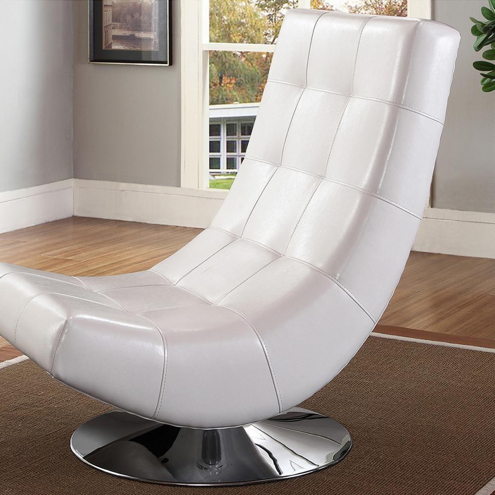 Baxton studio elsa contemporary white faux leather