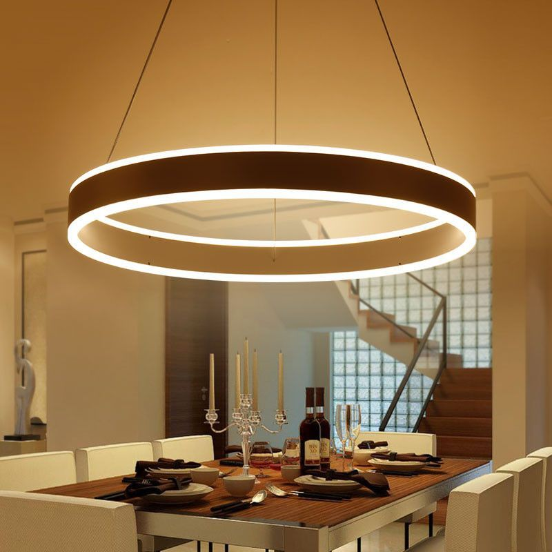 Modern Designer Circle Ring Up Down Led Pendant Light Fixture Kitchen Ceiling Lights Room Lights Diy Kitchen Lighting