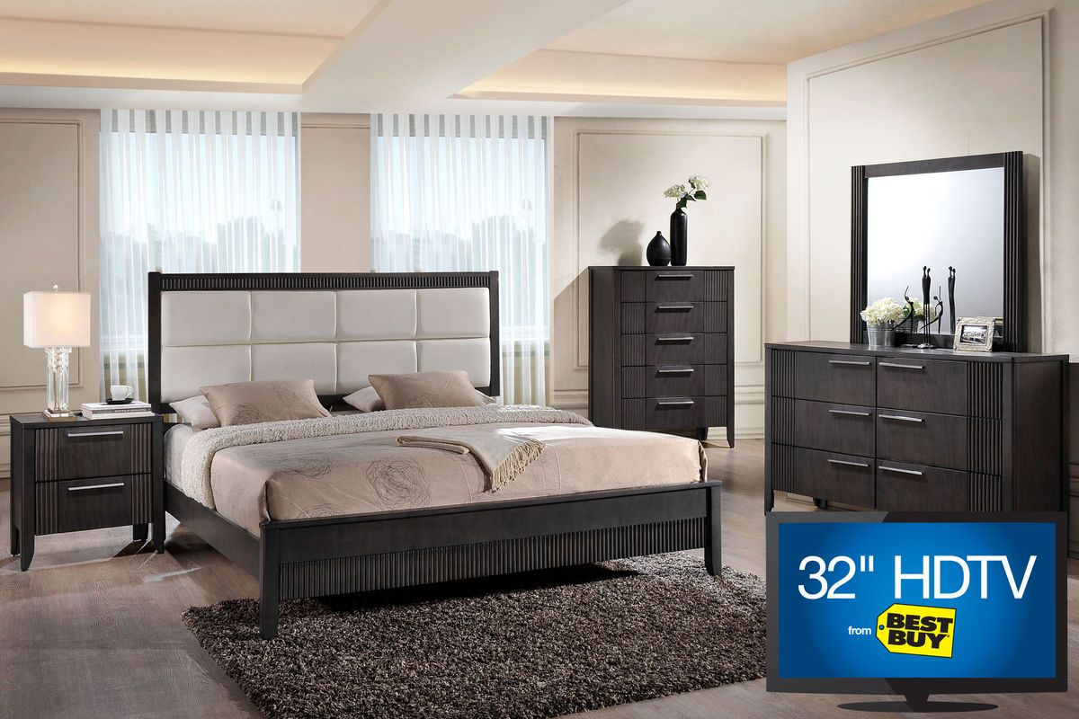 """belair queen bedroom set with 32"""" led-tv   my apartment"""