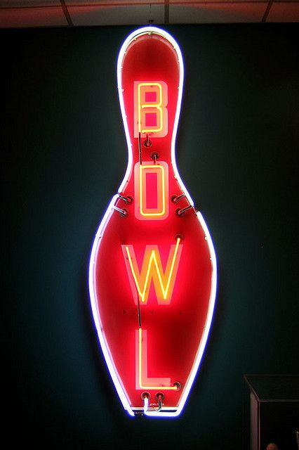 Bowling Pin Neon Signs Vintage Neon Signs Bowling
