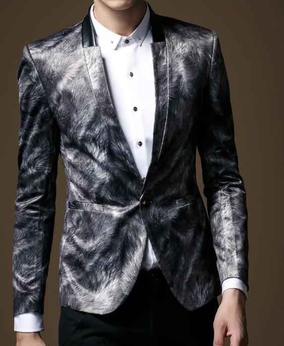 Cool Artistic Fur Pattern Printed Mens Blazer | Blazers ...