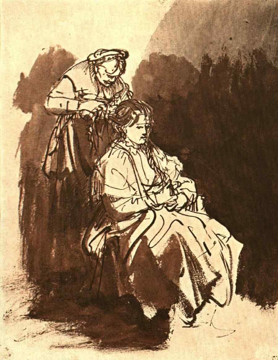 Rembrandt Young Woman At Her Toilet Rembrandt Van Rijn