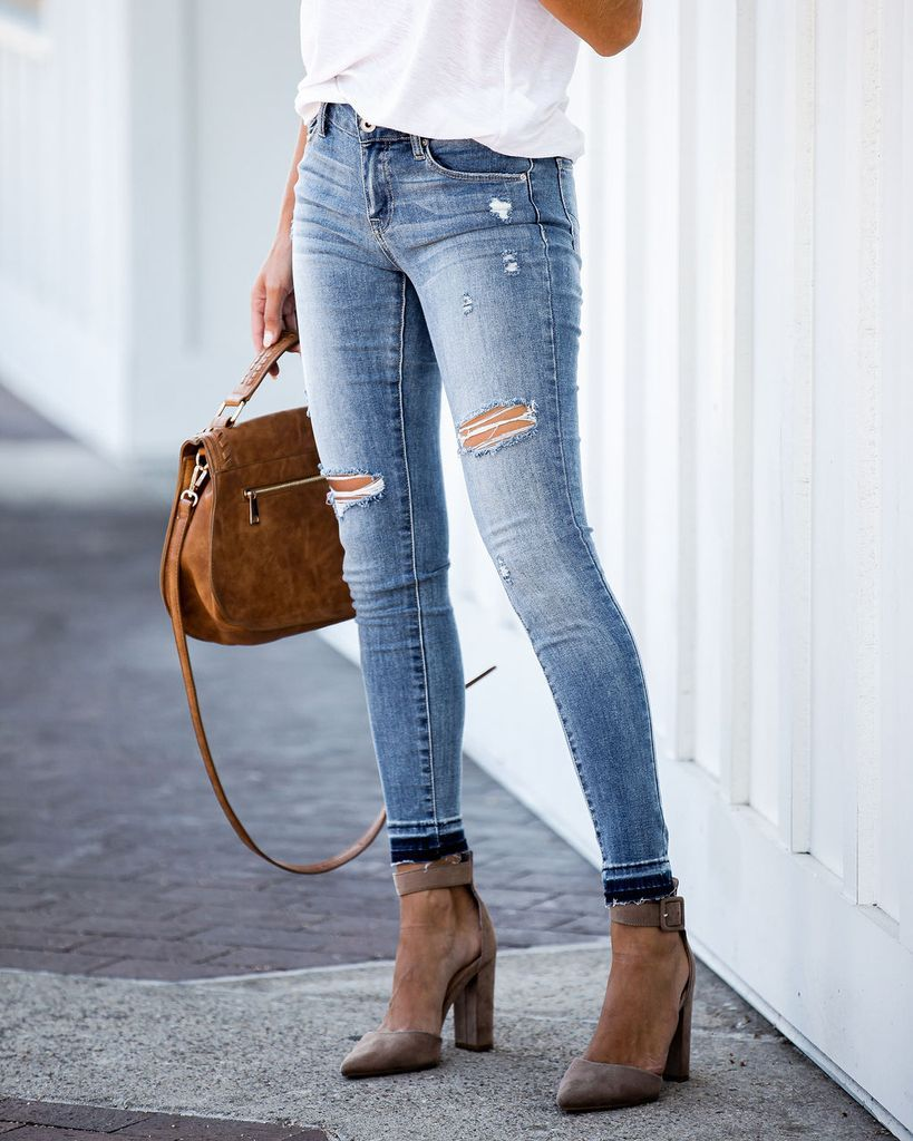 how to fray jeans at the ankle