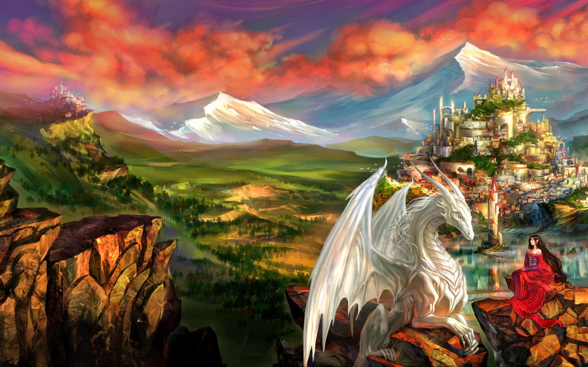 תוצאת תמונה עבור fantasy world | Fanatasy world | Pinterest ... for Fantasy World Art Dragon  585ifm