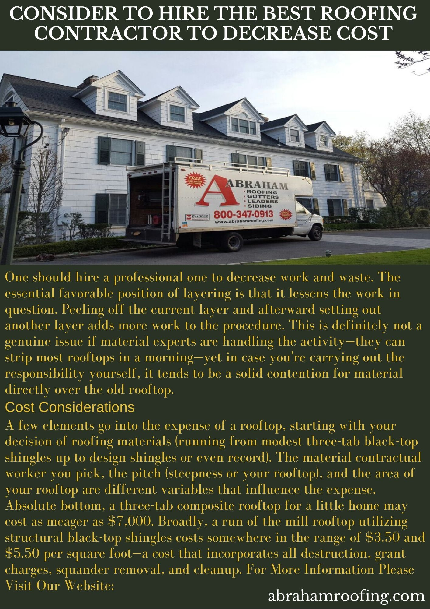 Consider To Hire The Best Roofing Contractor To Decrease Cost In 2020 Roofing Contractors Cool Roof Roofing