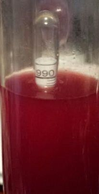 Original SG 1.092 - S G 0.993 at Second Rack for Triple Berry - Muscadine wine. Pulled and Pressed F Pack , added 3  t  Yeast Nutrient, 1  t  Yeast Energizer, 3  t  Pectic Enzyme, Degassed, brought water level up to 6 gallons. Reinstalled Air Lock.  08-21-15