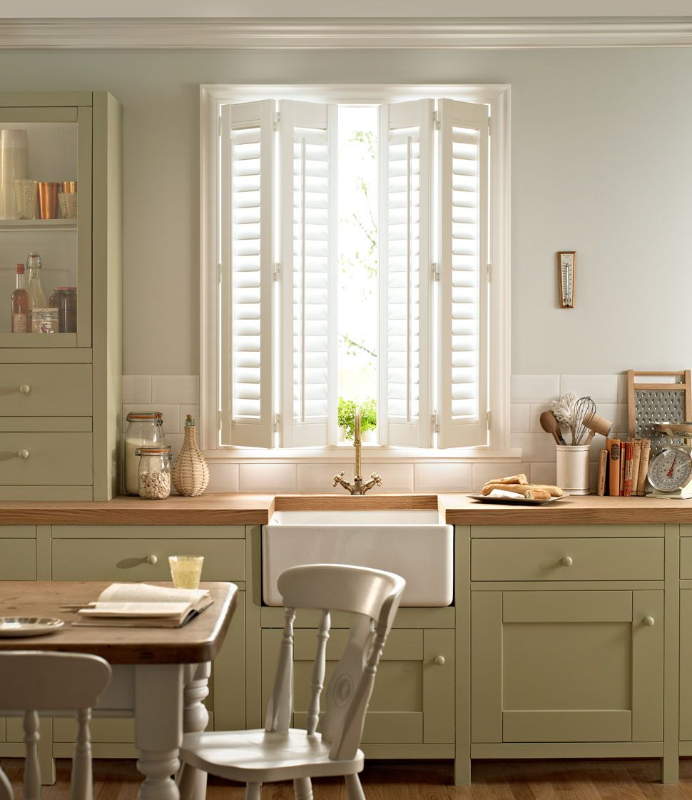 Window Shutters - Kitchen | Barn Cottage | Pinterest