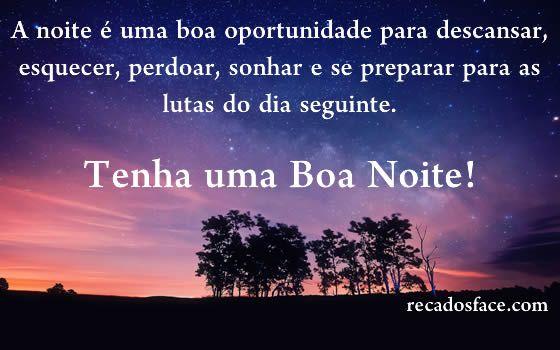 Imagens De Bom Dia E Boa Noite: Boa Noite - Mensagens Para Facebook