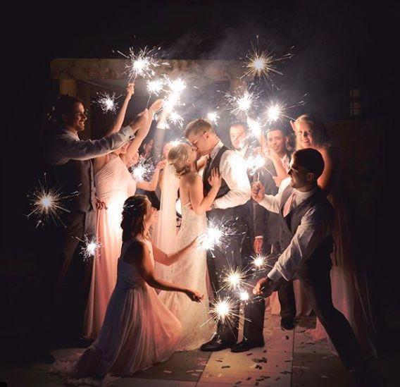 Sternspeier Hochzeitsfoto Gruppenbild
