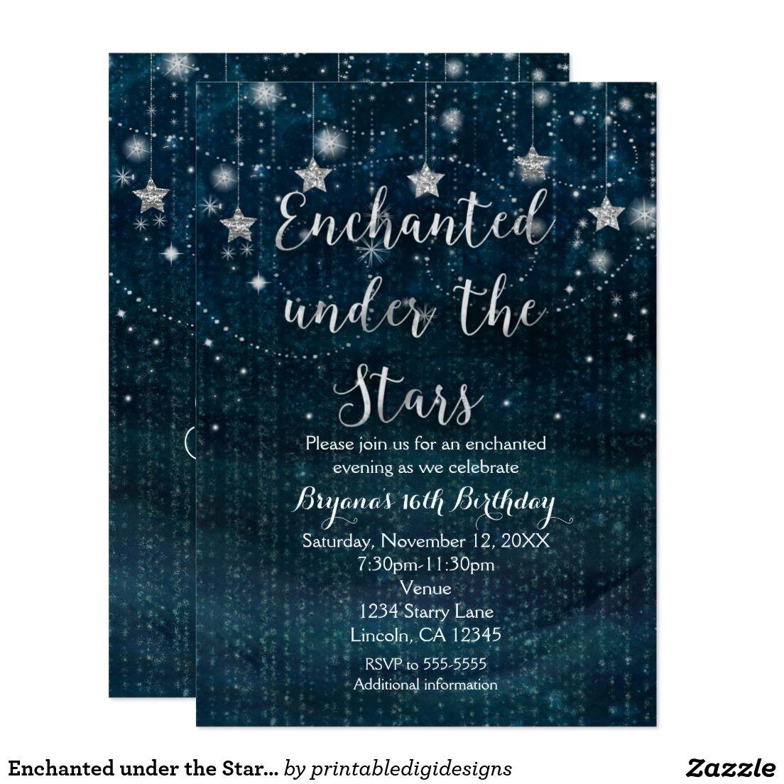 Create Your Own Invitation Zazzle Com Starry Night