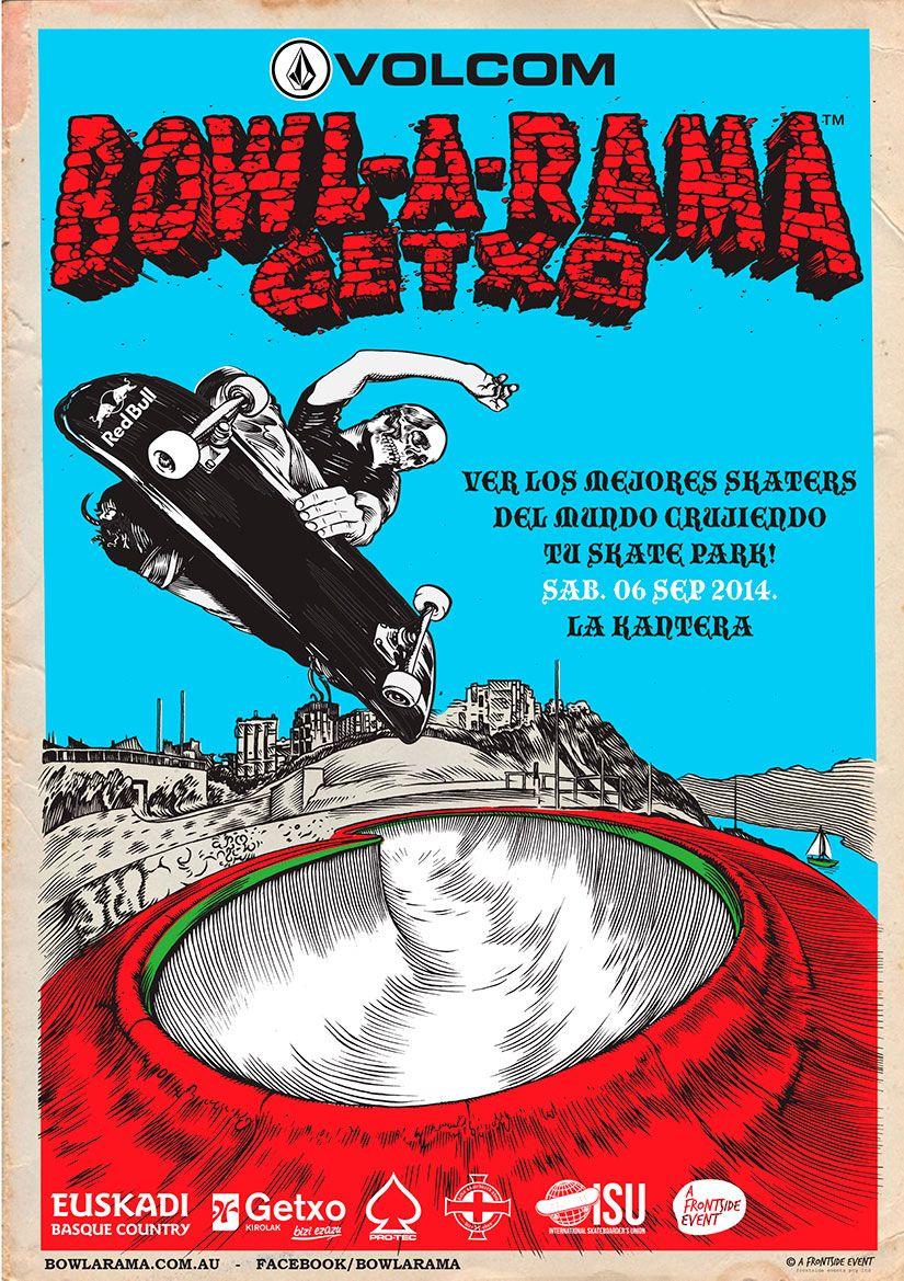 Bowl A Rama Getxo 2014 La Kantera. Con motivo del BOWL-A-RAMA en La Kantera el próximo sábado 6 de septiembre se han programado una serie de actividades desde hoy martes hasta el domingo:  http://www.40sk8.com/bowl-a-rama-getxo-2014-skatepark-la-kantera/