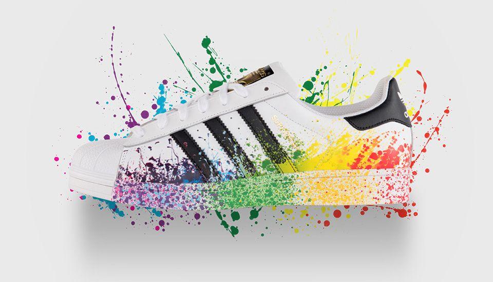 the latest 4f311 b3586 Adidas Originals celebra mês do Orgulho LGBT com coleção limitada e  colorida  wishlist  Pinterest  Adidas, Adidas superstar and Adidas shoes