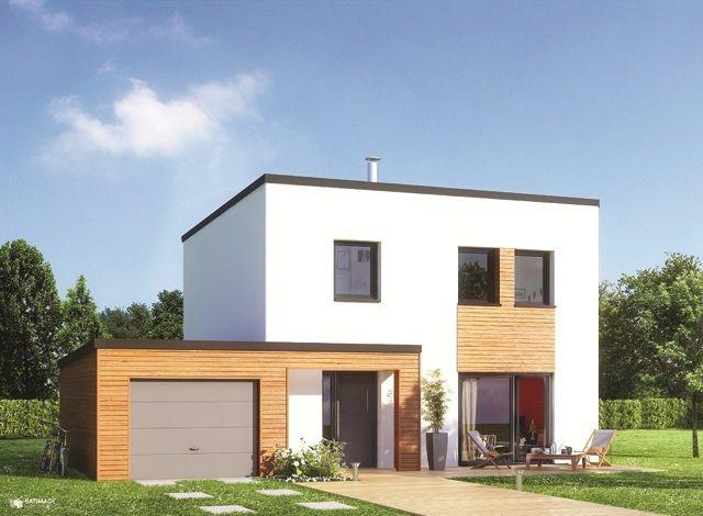 maison familiale maison d 39 tage avec toit plat et 4. Black Bedroom Furniture Sets. Home Design Ideas
