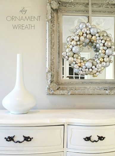 How to make an ornament wreath! Great tutorialcheck this out