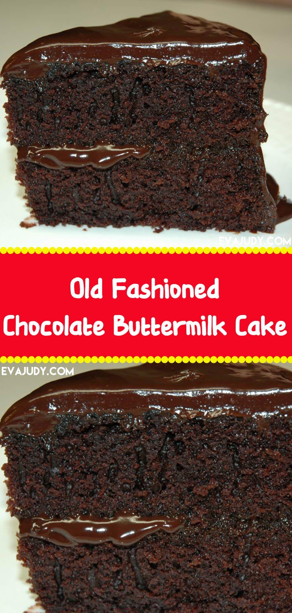 Old Fashioned Chocolate Buttermilk Cake In 2020 Peanut Butter Fudge Cake Chocolate Eclair Recipe Lemon Cake Recipe