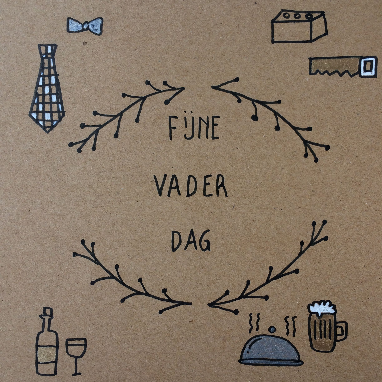 Handlettering Madebybie Vaderdag Doodle Selfmade Vaderdag Handlettering