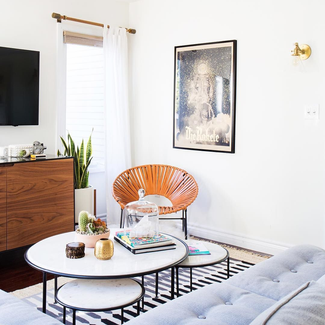 kellilamb_ used our Louise Marble Nesting Tables to give her maximum ...