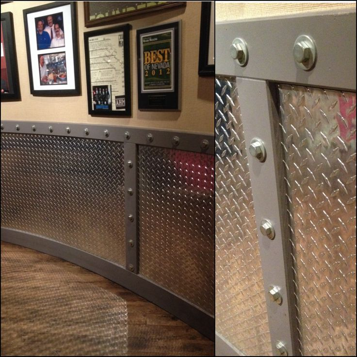 Would Be Great For A Man Cave Or Garage. Diamond Plate