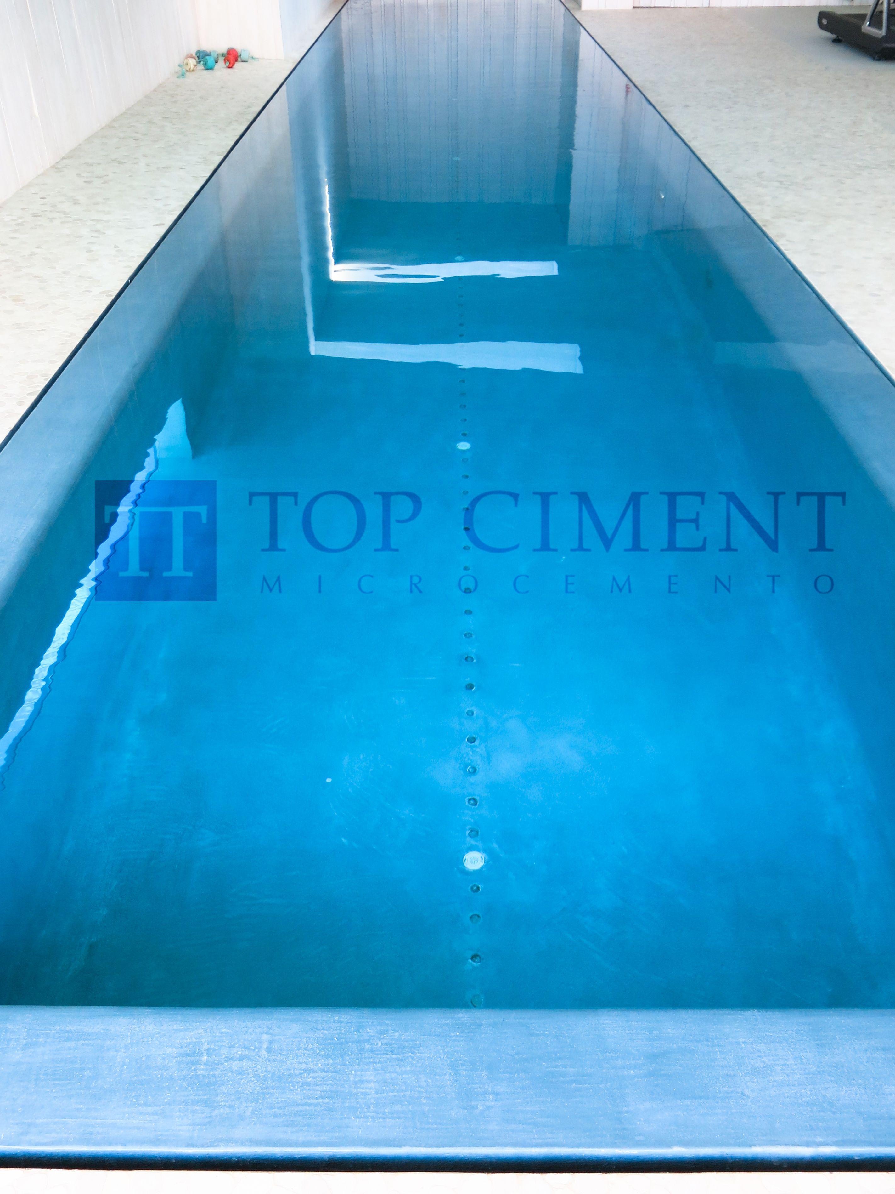 Es piscina interior con revestimiento de microcemento - Microcemento para piscinas ...