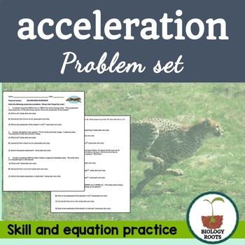 Key Words Velocity Worksheet Acceleration Worksheet Acceleration Homework Acceleration Word Problems Conversion Problem Set Word Problems Physical Science Acceleration practice problems worksheet