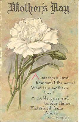 Bonanza Find Everything But The Ordinary Mothers Day Poems Mothers Day Cards Postcard