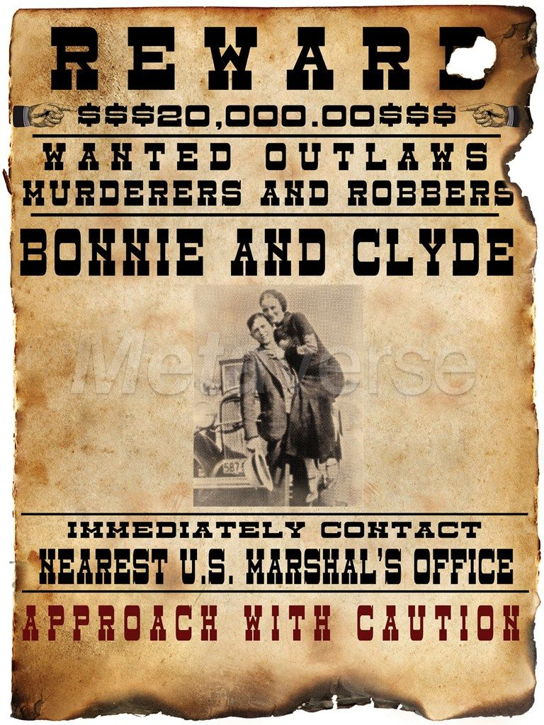 printable clip art pictures of bonnie and clyde zoom view [ 768 x 1024 Pixel ]