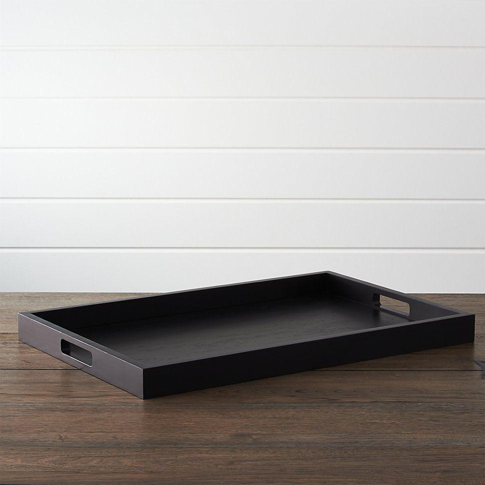 Zuma Black Rectangular Tray Tray Tray Decor Crate And Barrel