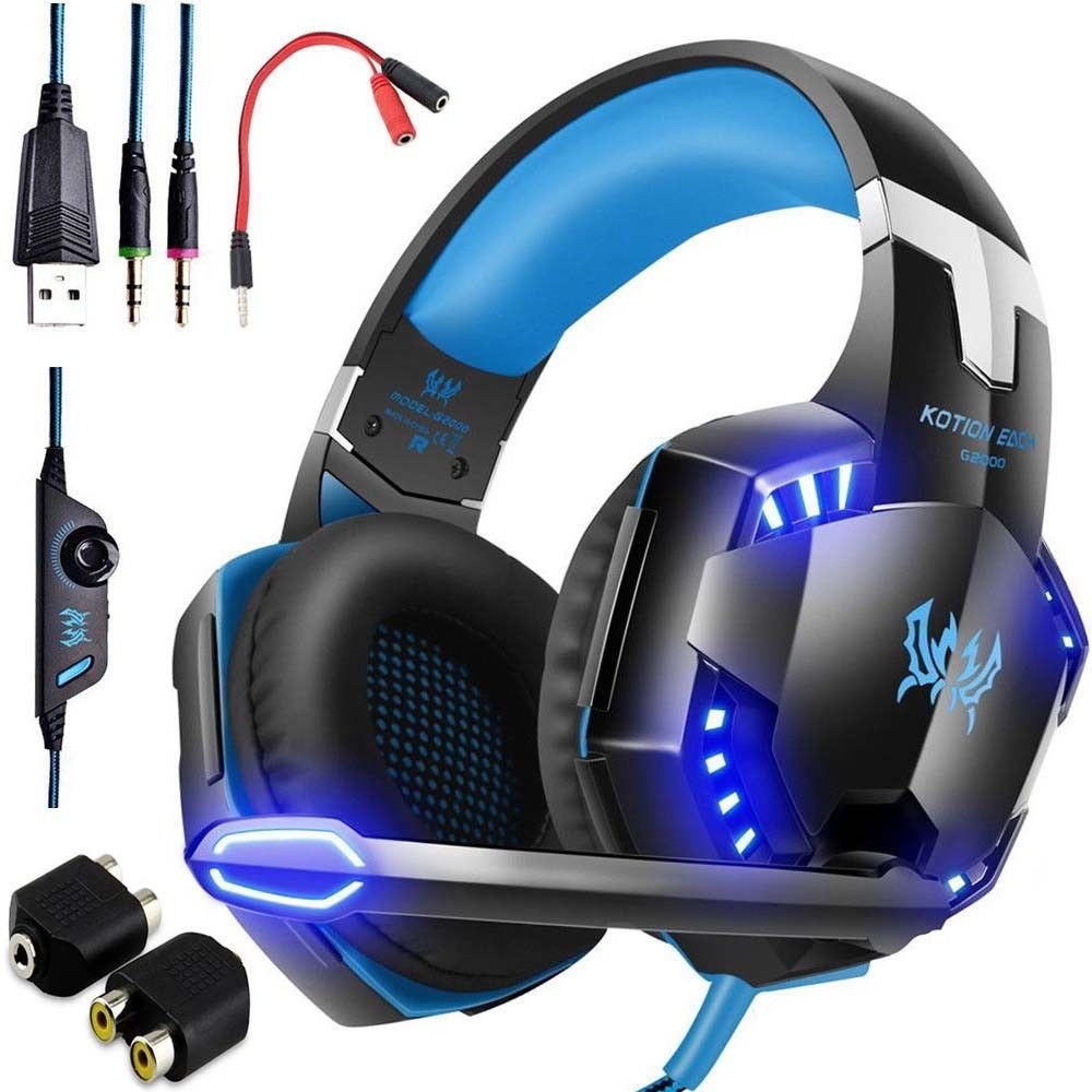 3 5mm Gaming Headset Led Headphones Stereo Surround For Ps3 Ps4 Xbox One X 360 E Gaming Headphones Ps4 Gaming Headset Gaming Headset