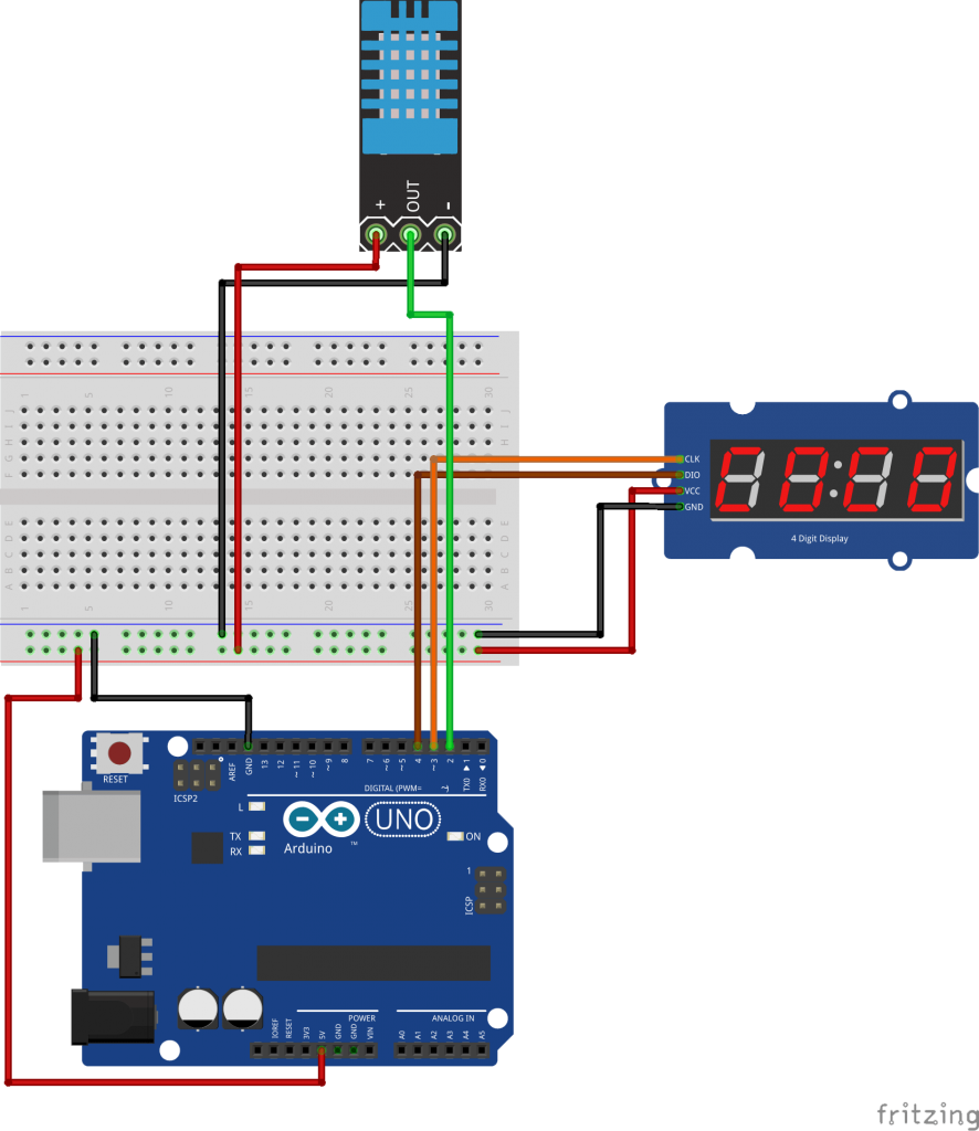 Overview Move Away From The Serial Monitor To Display Values Picaxe Cable Wiring In Addition Pc Plc Programming Your Sensor By Using This Simple Use 4 Bits 7 Segment Led Module