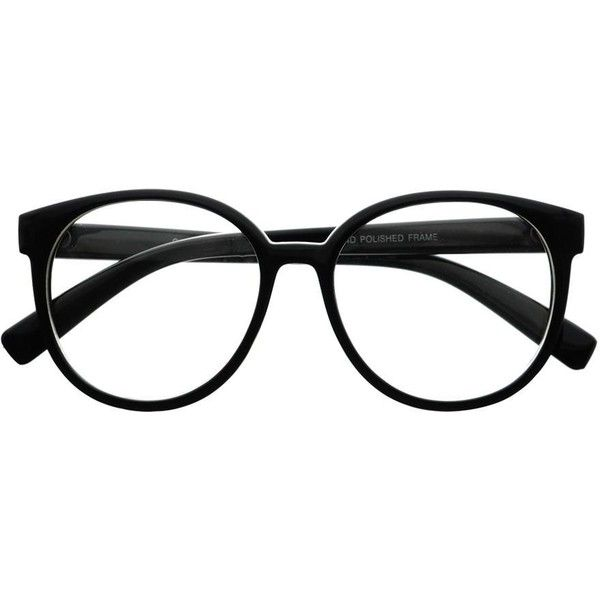 Womens Retro Vintage Style Clear Lens Oval Round Glasses Frames ...
