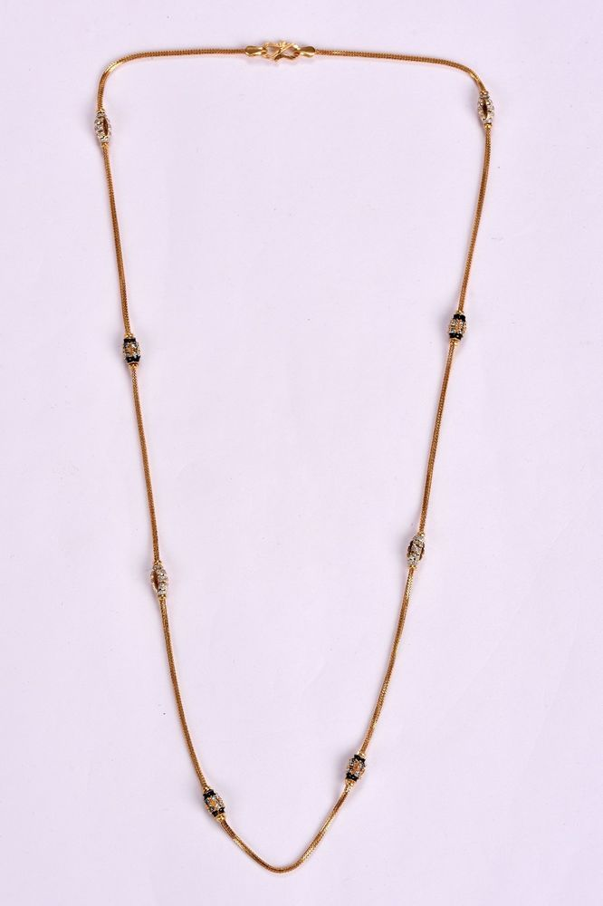 Women\'s Designer Chain Necklace in Solid Hallmark 22Kt Pure Yellow ...
