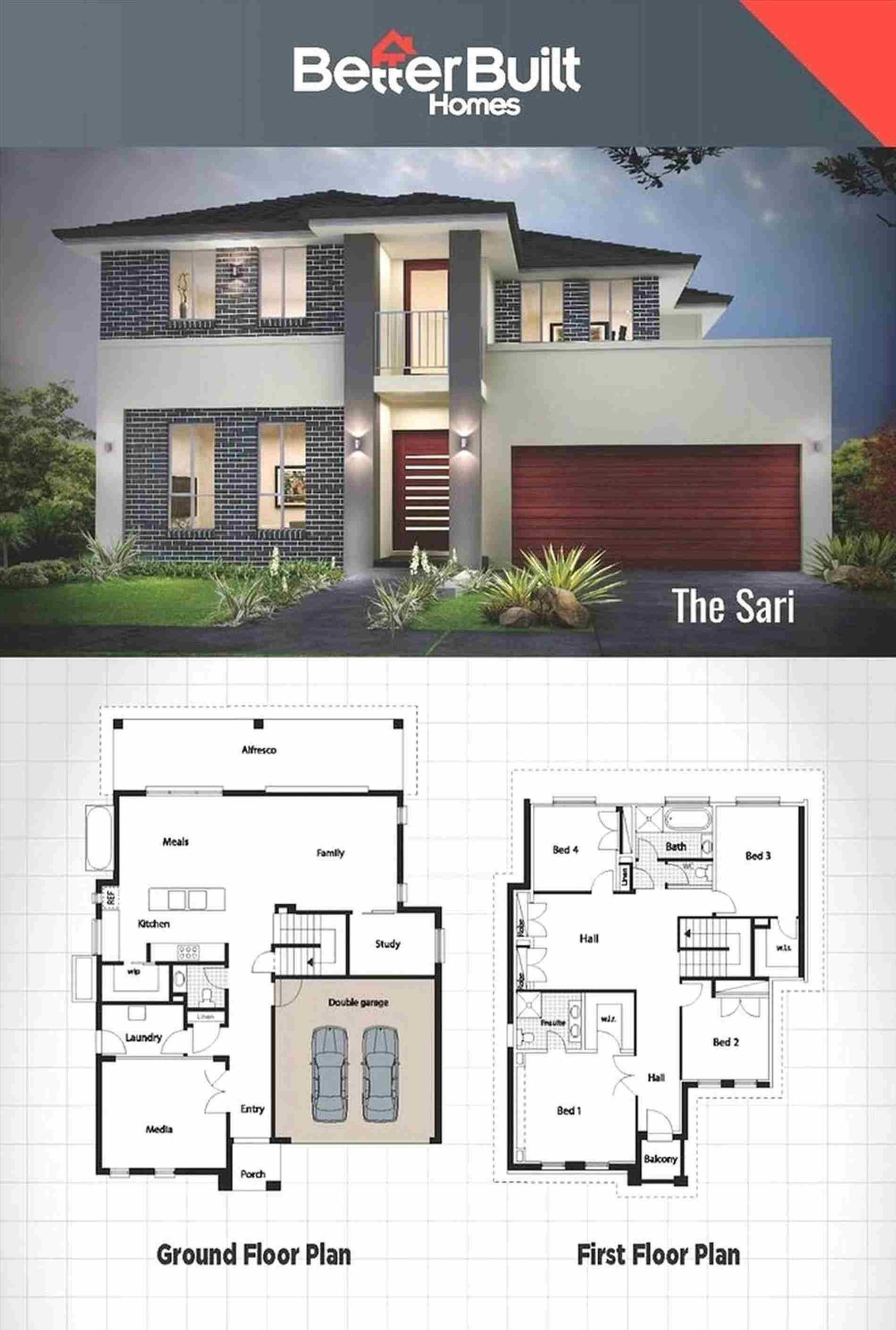 2 Storey House Plans Philippines With Blueprint Double Storey House Modern House Plans Double Storey House Plans
