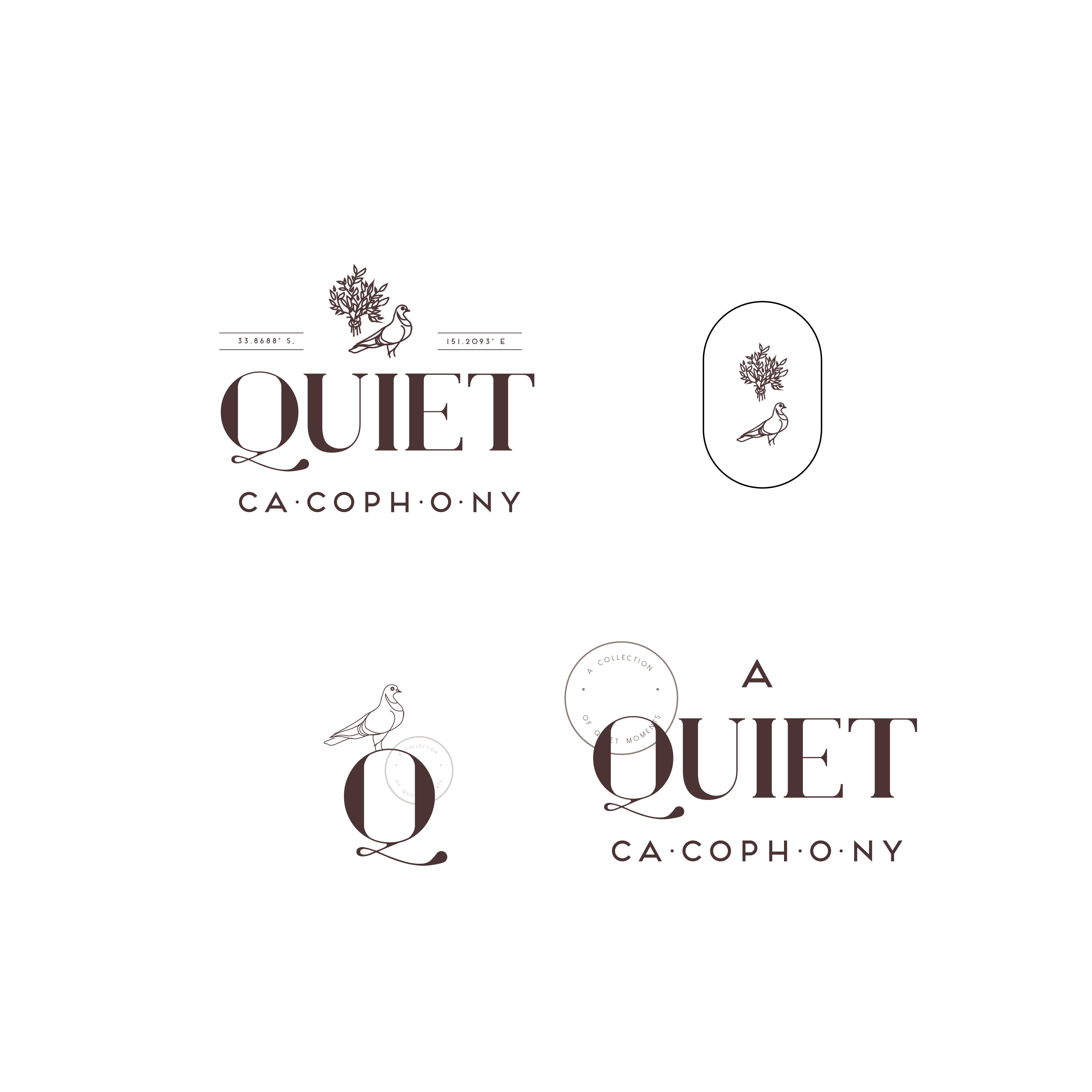 Full Set Eclectic Logo Typography Logo