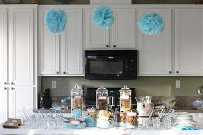 Milk and cookies themed baby shower