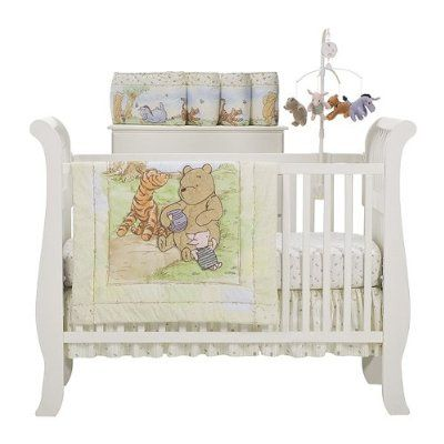Shopping Classifieds Ivory Classic Pooh Crib Set With Extras Winnie The Pooh Nursery Baby Girl Nursery Themes Winnie The Pooh Bedding