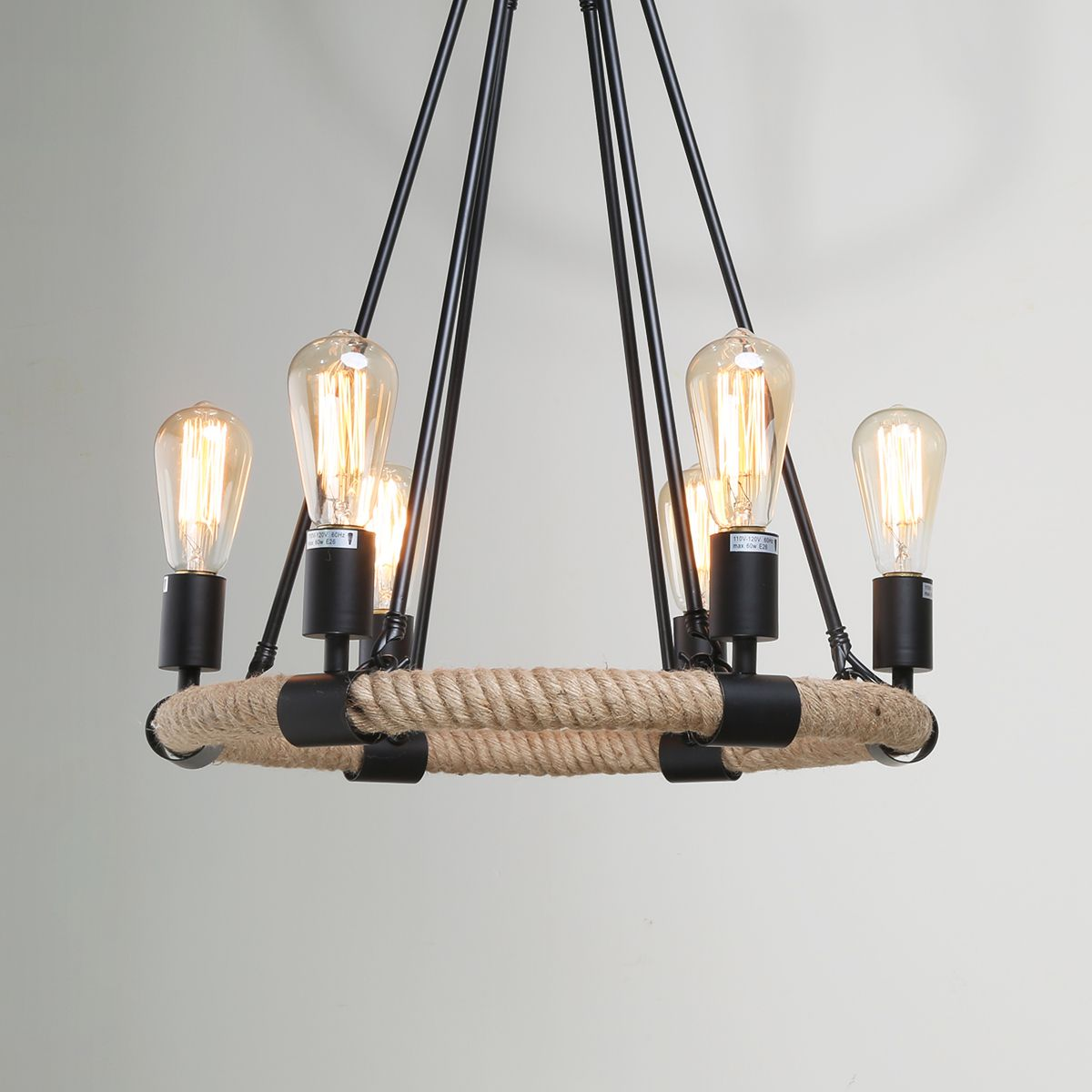 Rustic rope chandeliers transitional lighting pinteres pinterest