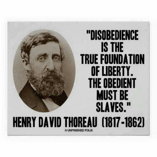 Wake Up And Disobey Murikan Dream Henry David Thoreau Quotes