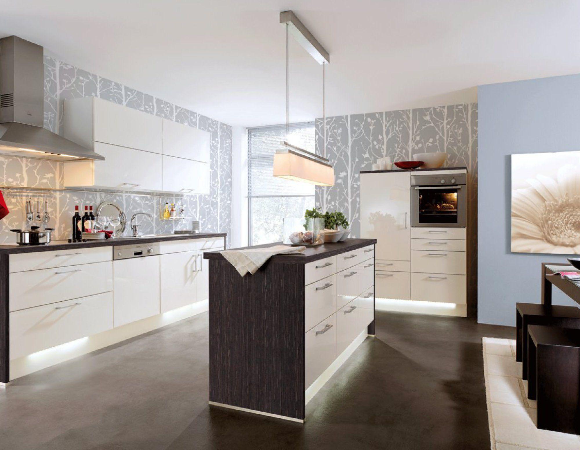 Inselküchen moderne inselküche mit hochglanz fronten inselküchen