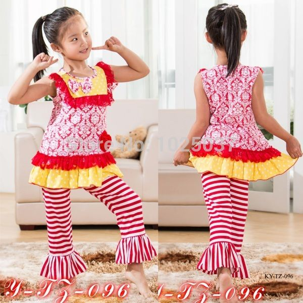 Find More Clothing Sets Information about Girls Valentine Outfit Summer Baby Girl Boutique Clothing Set Red Brocade Stripe Ruffle Clothes With Lace Bib Free Shipping ,High Quality clothing photography,China clothing clothes Suppliers, Cheap clothing blouse from kaiya angel clothing factory on Aliexpress.com