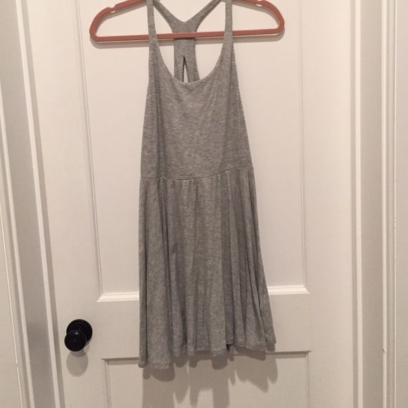 Super cute urban outfitters gray dress Super cute urban outfitters gray dress. Only worn twice, but small stain on front. Urban Outfitters Dresses