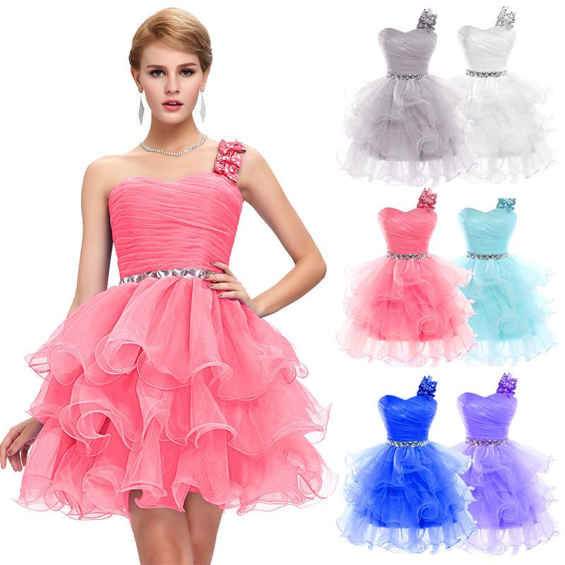 Lady Short Formal Wedding Party Ball Gown Homecoming Bridesmaid Prom ...