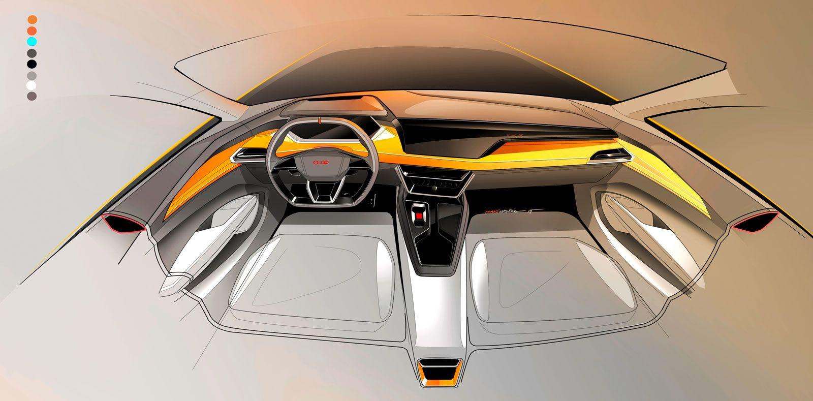 Audi E Tron Gt Concept Interior Design Sketch Render Car Body Design In 2020 Car Interior Design Sketch Interior Design Sketch Concept Car Interior Design