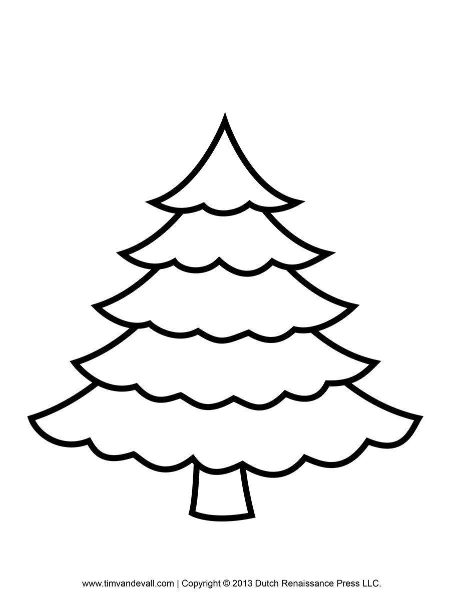 12+ Christmas tree template clipart ideas