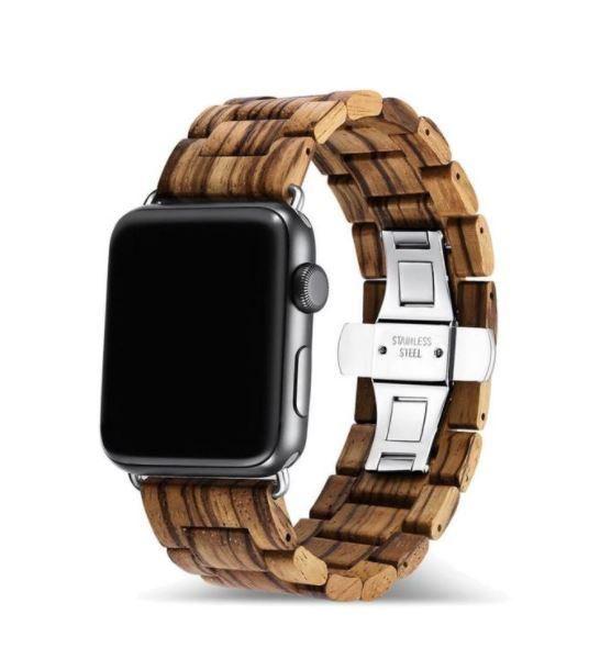 Zebrawood Apple Watch Band - 38mm / 40mm