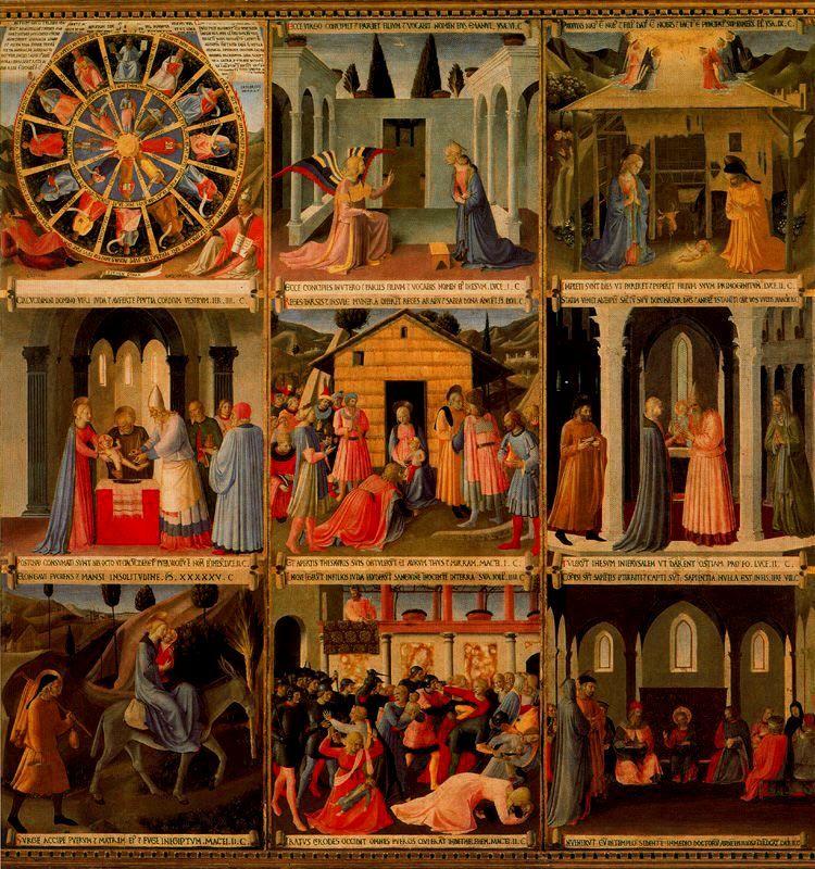 FRA ANGELICO Armario de la plata (1450) Museo de San Marcos ...