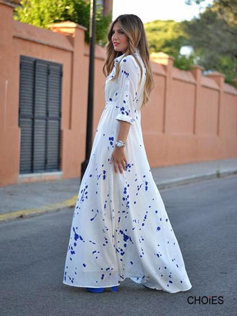 Vestidos largos estampados aliexpress