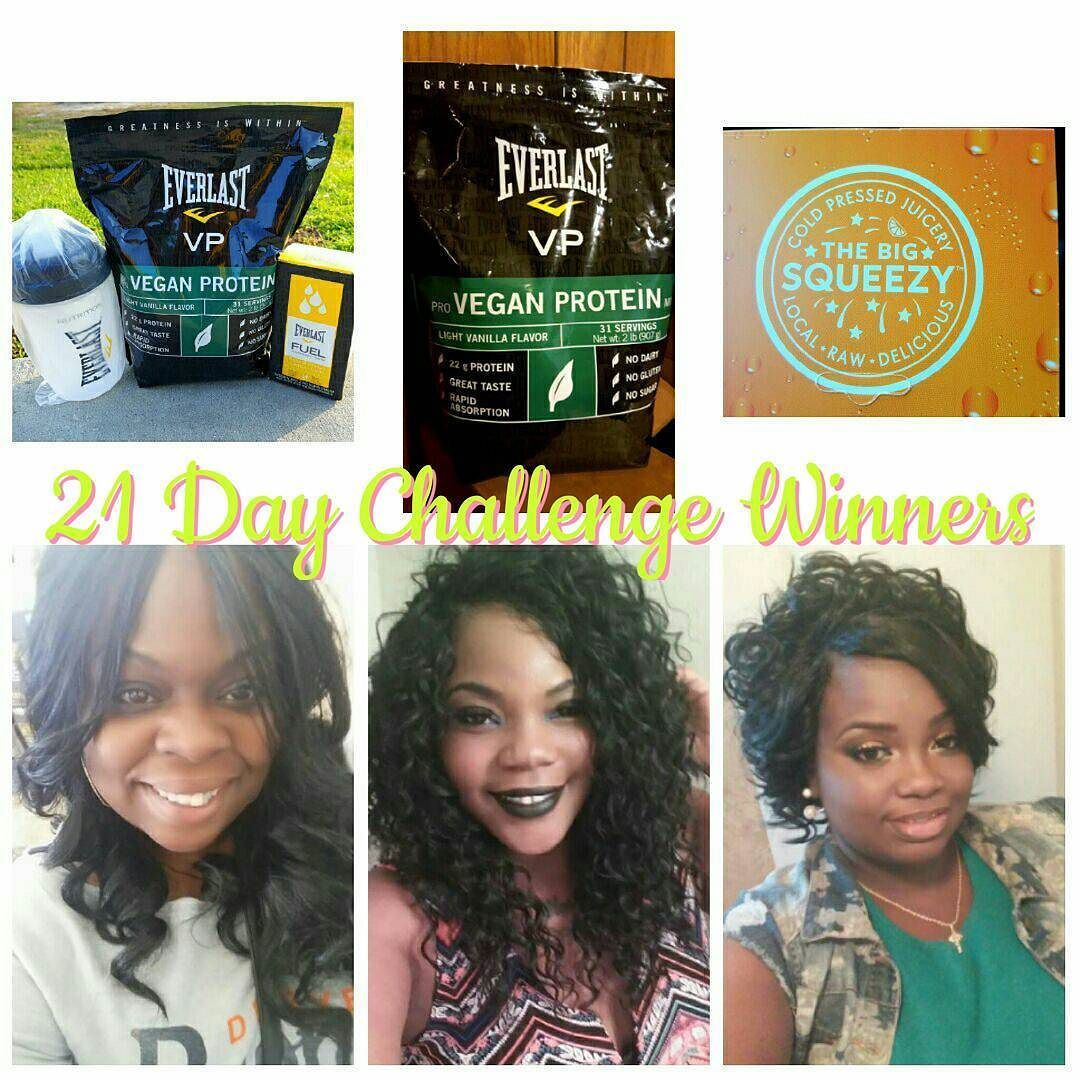 I started a group to help ladies who lack motivation or who have no support during their journey to a healthier lifestyle. I know how hard it can be trying to go at it alone. In this group I started a 21 Day Challenge on April 18th. Three ladies stood out the most and have started new healthy habits. I'm very proud and pleased to announce our winners!! What I have here is three prizes: Grand Prize Second Place and Third Place. They are in order in terms of value.  There were three ladies…