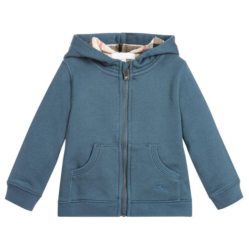 burberry hoodie kids blue