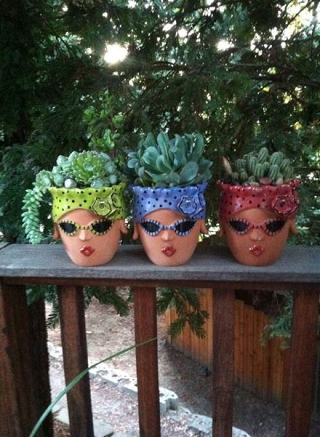 Decorate your Garden like an Artist #flowerpot