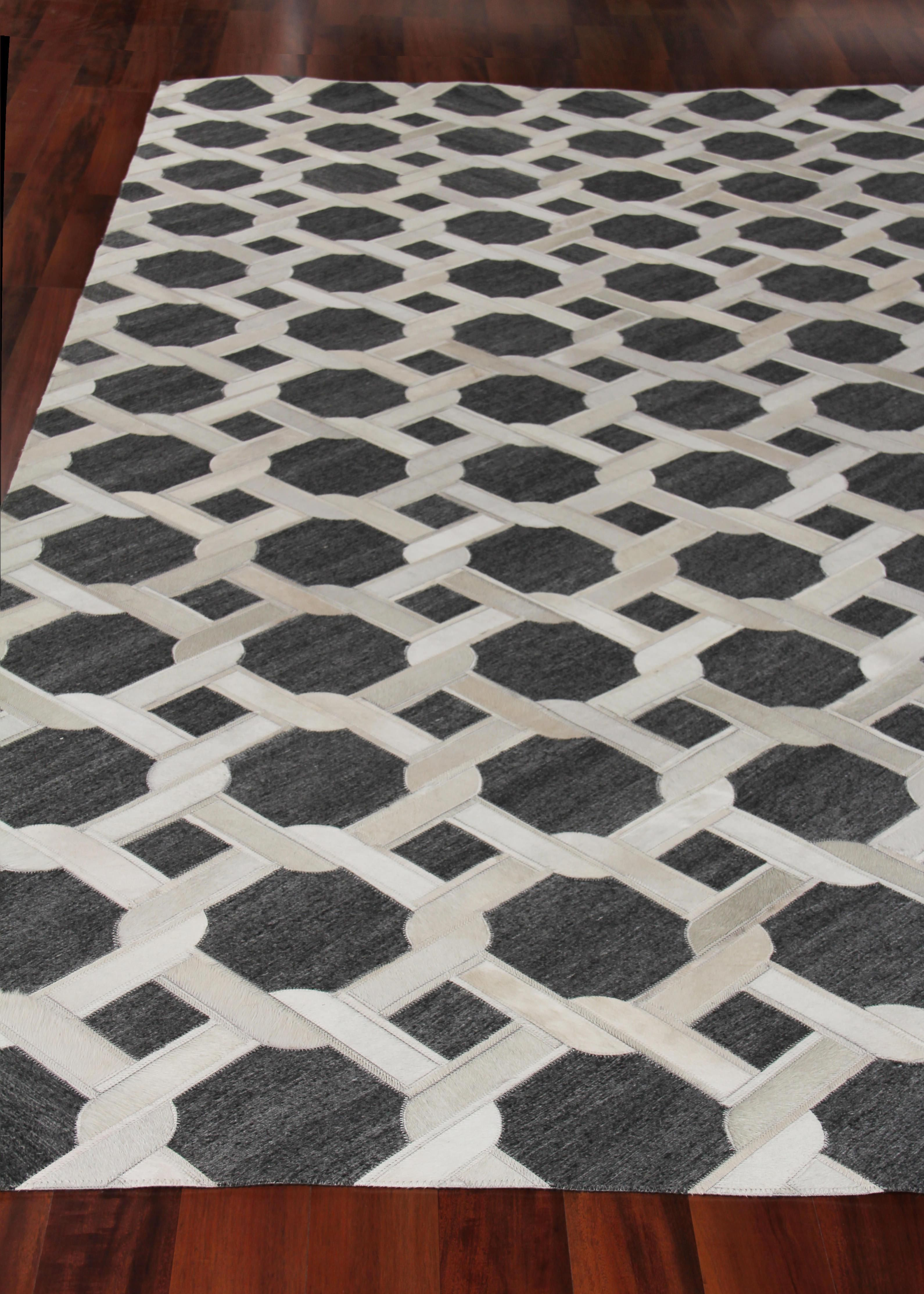 Exquisite Rugs Berlin Hand Stitched 3798 Charcoal Ivory Area Rug Exquisite Rugs Rugs Hand Tufted Rugs